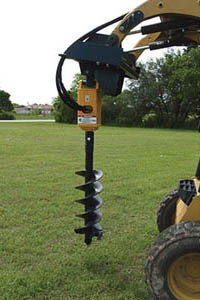 Auger Driver Skid Loader Attachment